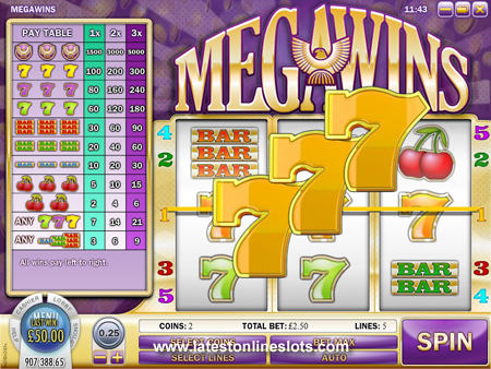 Get The Jackpot on Mega Wins Slot with 7's